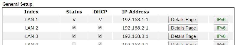 10 enable LAN subnet draytek