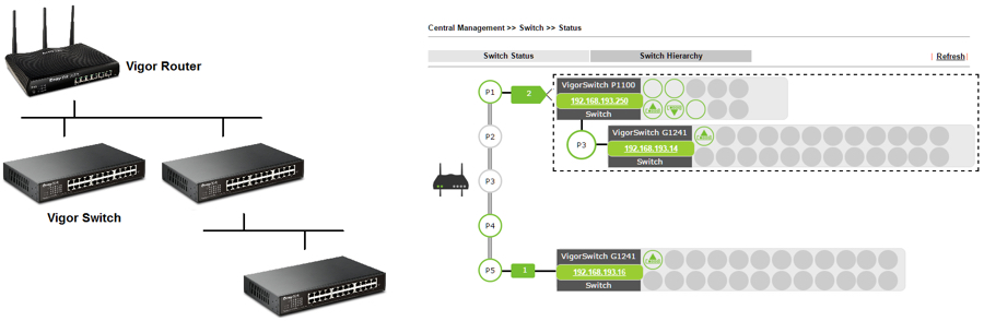Central Switch Management SWM Draytek 1