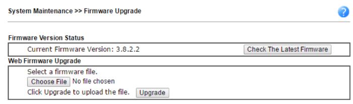 Draytek 5 fw upgrade