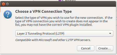 9 3 Select L2TP as VPN connection type