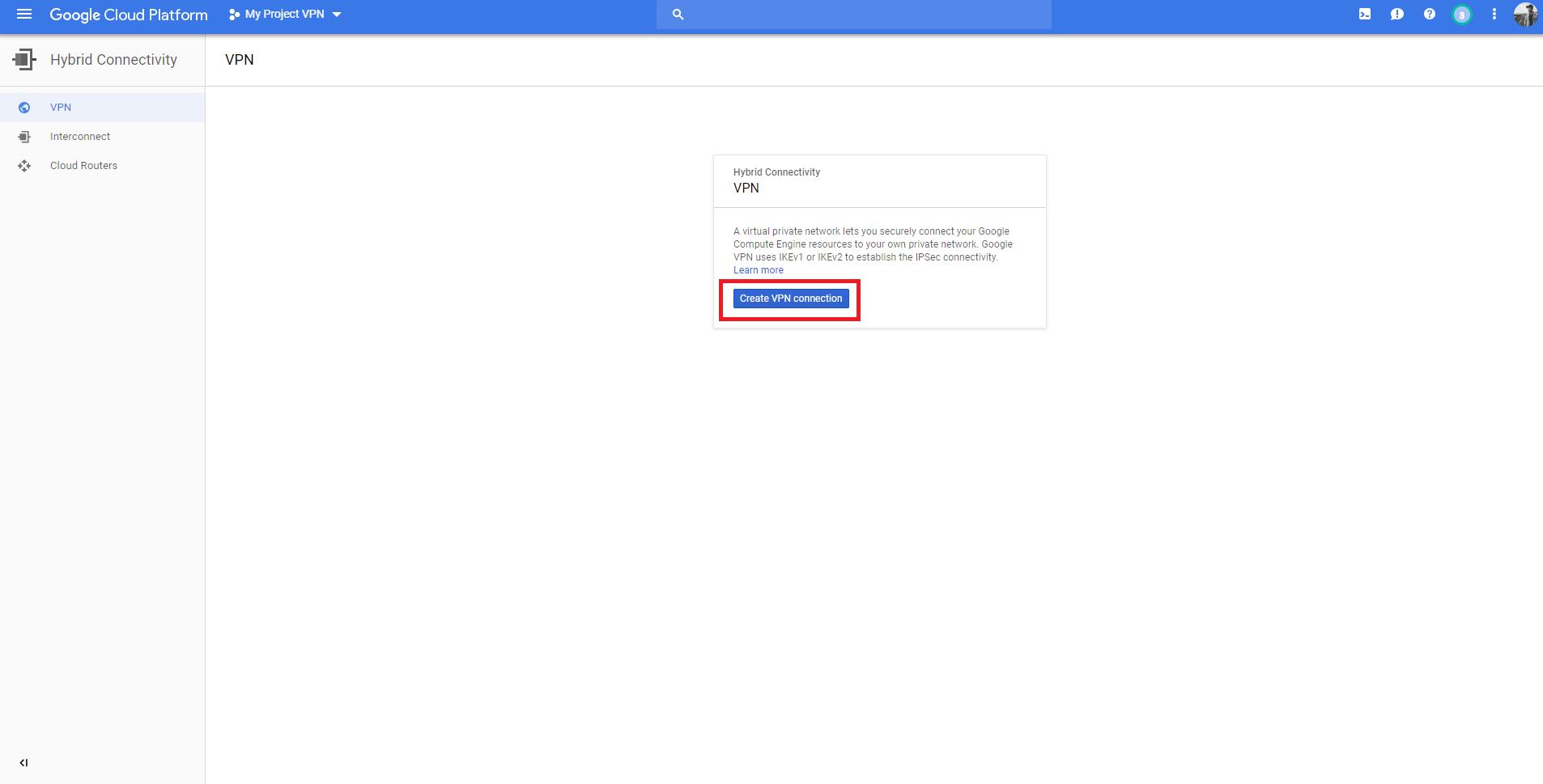 02 Google setting VPN Enable