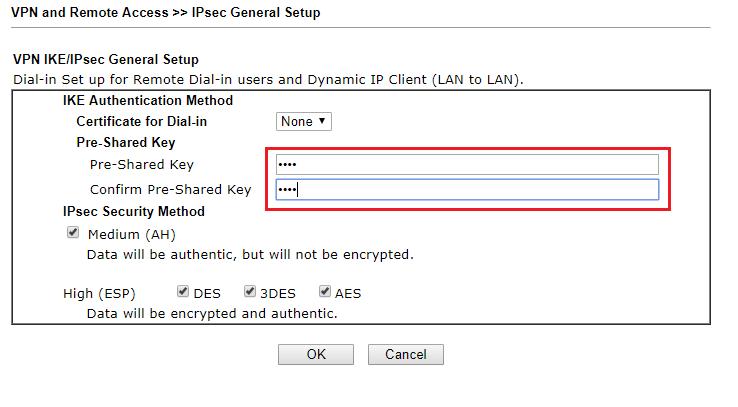 10 Preshared key