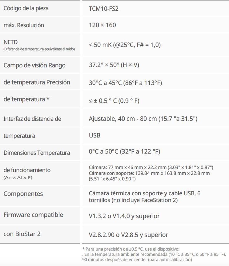 Suprema FaceStation 2 con deteccion temperatura 01