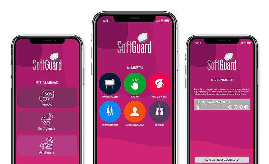 SoftGuard SmartPanics App Seguridad Mujeres