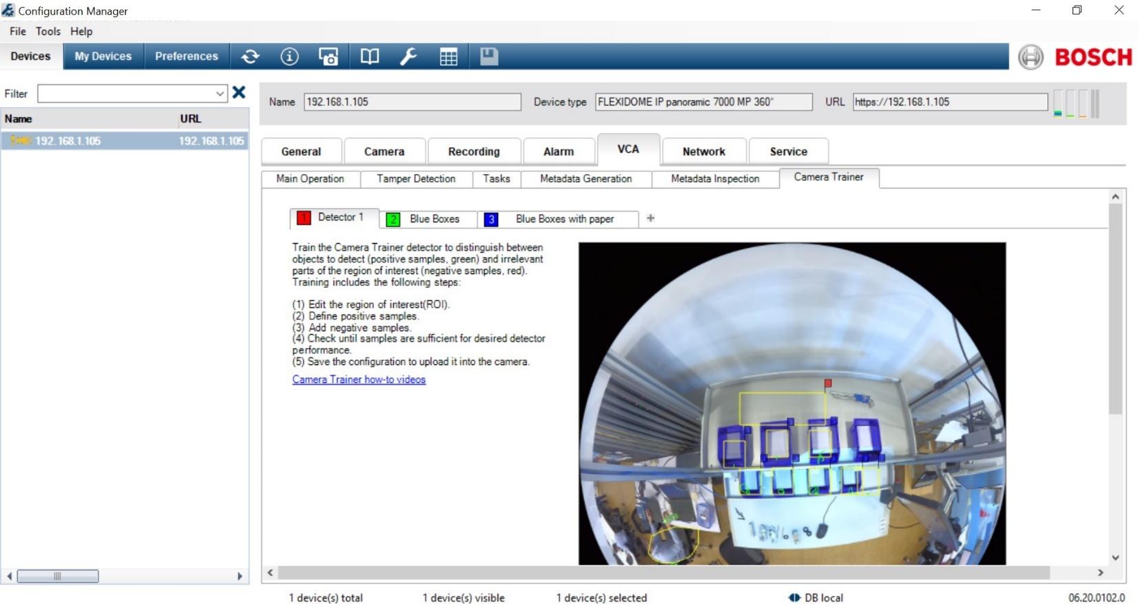Bosch Camera Trainer 14