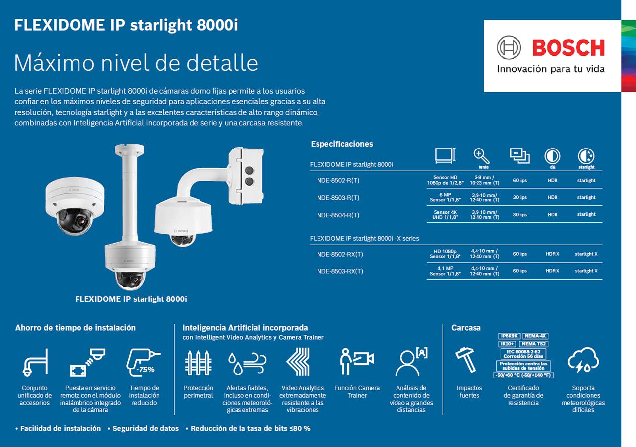 Bosch FLEXIDOME IP starlight 8000i X series 11 pequena