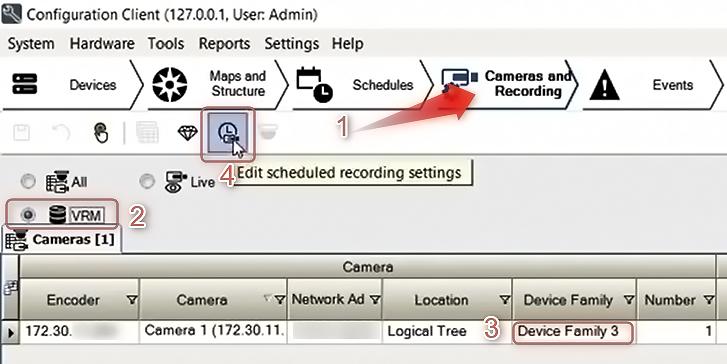 Bosch Cómo configurar grabación por movimiento en las noches y fin de semana 05