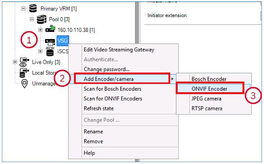 Bosch BVMS cámaras ONVIF VSG VRM 10