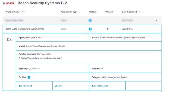 Bosch BVMS cámaras ONVIF VSG VRM 4