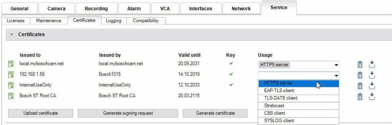 Bosch 4 HTTPS Server
