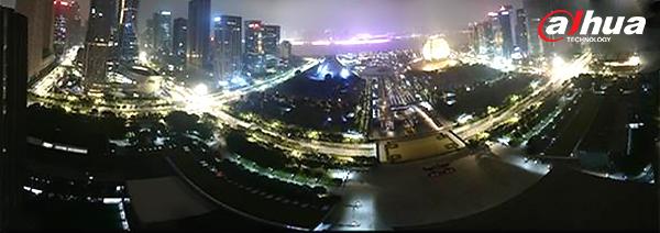 Dahua Efecto panoramico nocturno