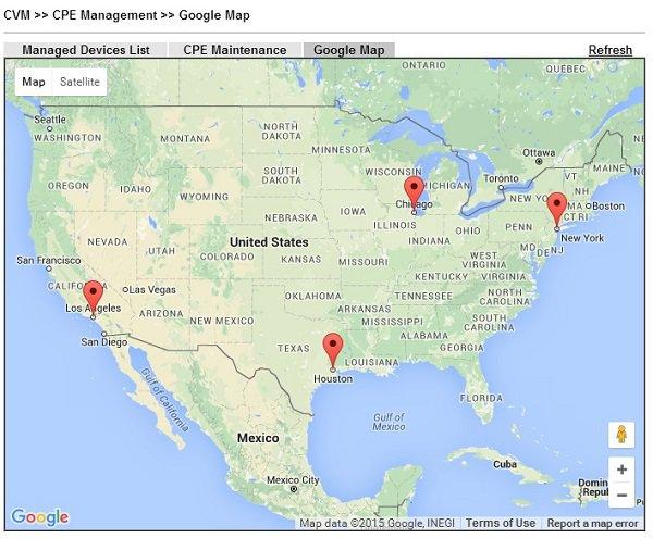 Configuracion VPM 9- CVM CPE Google maps