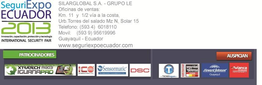 Patrocinadores SeguriExpoEcuador Full