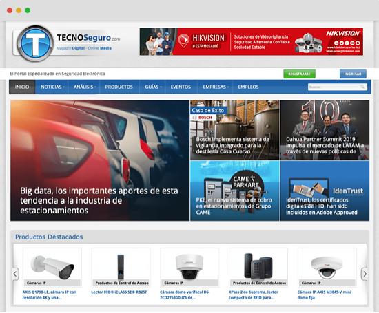 TECNOSeguro homepage